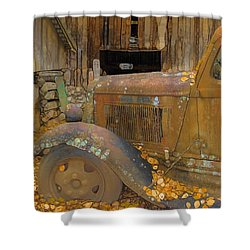 Dodge Truck Autumn Abstract Shower Curtain by Dan Sproul