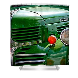 Dodge Truck Shower Curtain by Les Palenik
