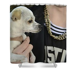 Shower Curtain featuring the photograph Dog And True Friendship 1 by Teo SITCHET-KANDA