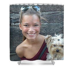 Shower Curtain featuring the photograph Dog And True Friendship 5 by Teo SITCHET-KANDA