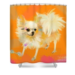Dog Chihuahua Orange Shower Curtain