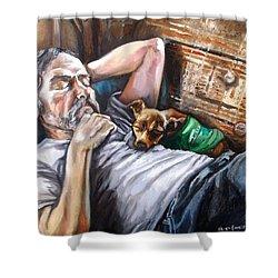 Dog Days Shower Curtain by Shana Rowe Jackson