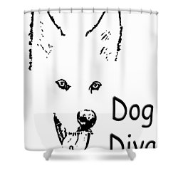 Dog Diva Shower Curtain