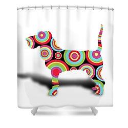 dog Shower Curtain by Mark Ashkenazi