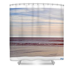 Dog On The Beach Shower Curtain