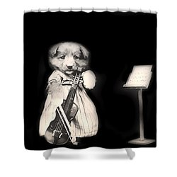 Dog Serenade Shower Curtain