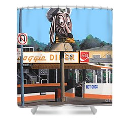 Doggie Diner 1986 Shower Curtain