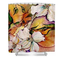 Dogwood In Spring Colors Shower Curtain by Lil Taylor