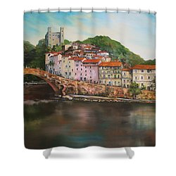 Dolceacqua Italy Shower Curtain by Jean Walker