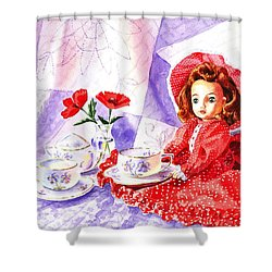 Doll At The Tea Party  Shower Curtain