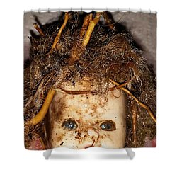 Doll Head Shower Curtain