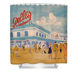 Dolles Salt Water Taffy Shower Curtain