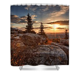 Shower Curtain featuring the photograph Dolly Sods Morning by Jaki Miller