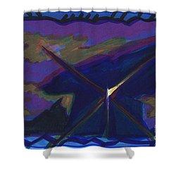 Dolmen Shower Curtain by First Star Art