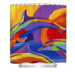 Dolphin Dance Shower Curtain
