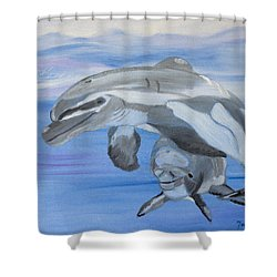 Sublime Dolphins Shower Curtain