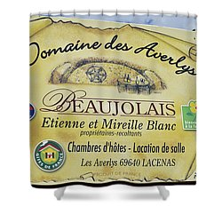 Domaine Des Averlys Shower Curtain