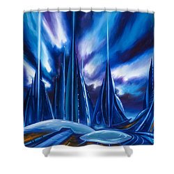 Domed City Shower Curtain by James Christopher Hill