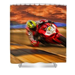 Domenic Caluori At Speed Shower Curtain