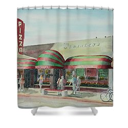 Domenicos In Long Beach Shower Curtain