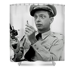 Barney Fife - Don Knotts Shower Curtain