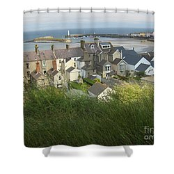 Shower Curtain featuring the photograph Donaghadee Northern Ireland View From The Moat by Brenda Brown