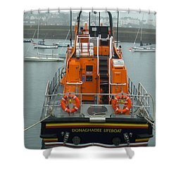 Donaghadee Rescue Lifeboat Shower Curtain