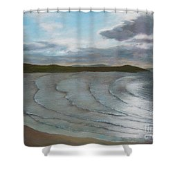 Donegal's Shimmering Sea Shower Curtain