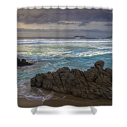 Shower Curtain featuring the photograph Doninos Beach Ferrol Galicia Spain by Pablo Avanzini
