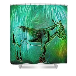 Donkey-featured In Nature Photography Group Shower Curtain by EricaMaxine  Price