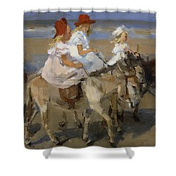 Donkey Rides Along The Beach Shower Curtain