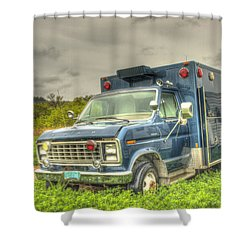 Don't Call Me  Shower Curtain by Thomas Young