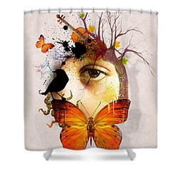 Don't Cry For Me Shower Curtain by Mark Ashkenazi