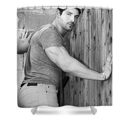 Dont Fence Me In Bw Shower Curtain by William Dey