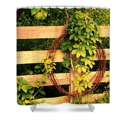 Don't Fence Me In Shower Curtain by Cricket Hackmann