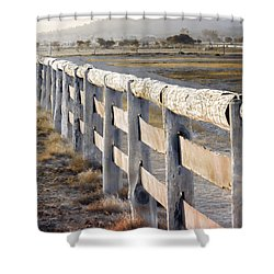 Shower Curtain featuring the photograph Don't Fence Me In by Holly Kempe