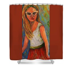 Don't I Know You? Girl Shower Curtain