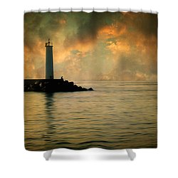 Don't Leave Me Now Shower Curtain by Taylan Apukovska