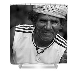 Don't Worry - Be Happy Shower Curtain by Heiko Koehrer-Wagner