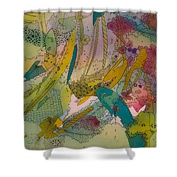 Doodles With Abstraction Shower Curtain
