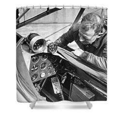 Doolitle' Blind Plane Shower Curtain by Underwood Archives