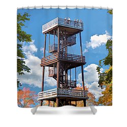 Door County Eagle Tower Peninsula State Park Shower Curtain by Christopher Arndt