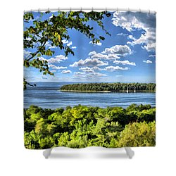 Door County Horseshoe Island Shower Curtain