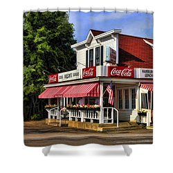 Door County Wilson's Ice Cream Store Shower Curtain