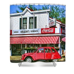 Door County Wilson's Restaurant And Ice Cream Parlor Shower Curtain by Christopher Arndt