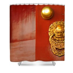 Door Handle Shower Curtain by Sebastian Musial