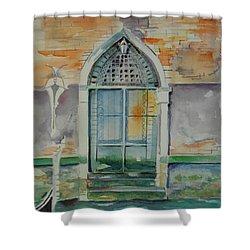 Door In Venice-italy Shower Curtain