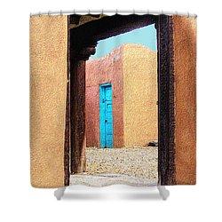 Shower Curtain featuring the photograph Door Through Door by Nadalyn Larsen