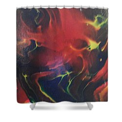 Shower Curtain featuring the painting Doorbell by Thomasina Durkay