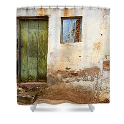 Doors And Windows Lencois Brazil 4 Shower Curtain by Bob Christopher
